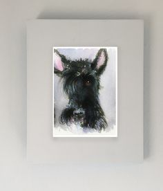 A personal favorite from my Etsy shop https://www.etsy.com/listing/220480844/scottie-dog-art-print-scottish-terrier