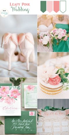 Leafy Pink Wedding I