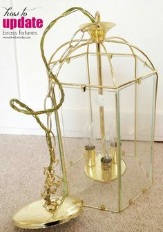 """Thrift Store Furniture Makeovers • Tutorials and ideas, including """"how to update brass light fixtures"""" by 'Live Love DIY'!"""