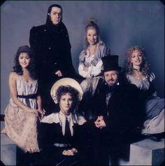 Les Mis (1985)   The original London Cast of Les Miserables: Frances Ruffelle (Eponine), Roger Allam (Javert), Sue Jane Tanner (Madame Thenardier), Patti LuPone (Fantine), Colm Wilkinson (Valjean) and Rebecca Caine (Cosette).