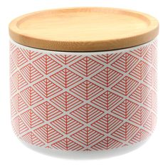 Evora Deco Red Small Canister – Jumbled