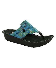 Another great find on #zulily! Blue Fantasy Escape Leather Sandal #zulilyfinds