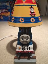 Bedside touch table lamp night light fabric shade thomas tank bedside touch table lamp night light fabric shade thomas tank engine train boys mozeypictures Images
