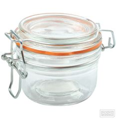 125ml Clear glass, Clip Top Jar with heavy duty wires