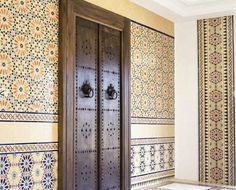 The decor details in a beautiful Moroccan residence.