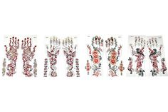 Tattoos Tattoo Henna Hand 8 Pcs Temporary Removable Body Art Waterproof Stickers #Kenzy