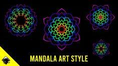 Cara membuat mandala art dengan inkscape (IND/ENG) - Inkscape tutorial #9 Inkscape Tutorials, Mandala Art, Vector Graphics, Neon Signs