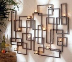 Square on Square Candle Holder Wall Art | Shop home, interior_design| Kaboodle
