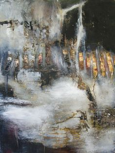 """Painting : """"Writing Down The Wish"""" (Original art by jeane myers) Oil & Cold wax Abstract Landscape, Abstract Art, Abstract Paintings, Indian Paintings, Art Paintings, Painting Art, Landscape Paintings, Encaustic Art, Abstract Expressionism"""
