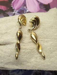 Ohrschmuck Blau & Weiss Saphir Herz & Blumen Stecker Ohrringe Schrauben Rückseite 14k Gold Echtschmuck
