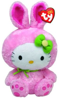 Amazon.com: Ty Beanie Babies Hello Kitty Pink Bunny Suit: Toys & Games