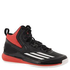 low priced d0f76 5b77f adidas Performance Men s Title Run Basketball Shoe, Core Black White Bright  Red, M US