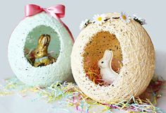 Sugar String Easter Egg Baskets - sugar water and string!