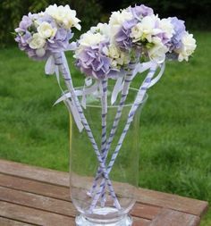 Wedding bouquets and bridal bouquets by Shades of Bloom Floral Design for your perfect wedding day flower bouquet Flower Girl Wand, Flower Girl Bouquet, Flower Girls, Purple Wedding, Floral Wedding, Wedding Flowers, Wedding Wands, Wedding Bouquets, Bridesmaid Flowers