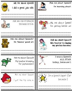 Resource of the Week: Speech Reward Stickers - pinned by @PediaStaff – Please Visit ht.ly/63sNt for all our pediatric therapy pins