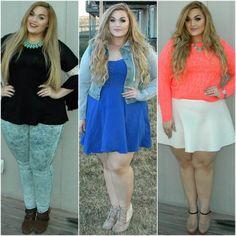 Loey Lane wearing PinkClubwear Outfits with 3 different styles  #pinkclubwear #loeylane #plus