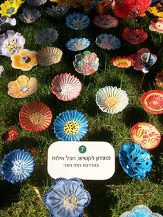 One year of work by the elders of Israel. One women's idea. 11,000 ceramic flowers planted in the Israel museum in Tel Aviv. I am lucky to participate with our elders.