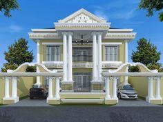 House Arch Design, Village House Design, Bungalow House Design, Villa Design, Classic House Design, Modern House Design, House Plans Mansion, Modern Bungalow House, Home Design Floor Plans