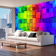 Foto Tapete Wand-Wandbilder Vlies 3D Squares moderne optische Illusion Wand Aufkleber Schlafzimmer Dekor Hause entwerfen Wandkunst Decals 121 von GlitterBlast auf Etsy https://www.etsy.com/de/listing/479805108/foto-tapete-wand-wandbilder-vlies-3d