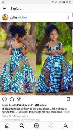 Latest Ankara Dress Styles - Loud In Naija Ankara Styles For Kids, African Dresses For Kids, African Girl, African Print Dresses, Dresses Kids Girl, African Children, African Fashion Ankara, Latest African Fashion Dresses, African Women Fashion