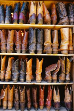 Cowgirl boots......my go to foot wear!