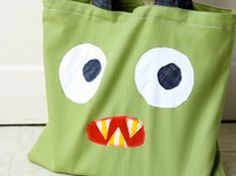 Cool monster tote bag in Craft ideas for the clothing and fashion