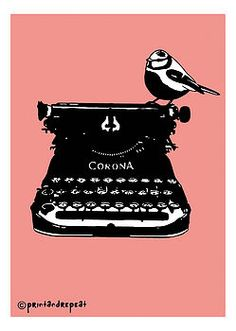 retro typewriter print by print and repeat | notonthehighstreet.com