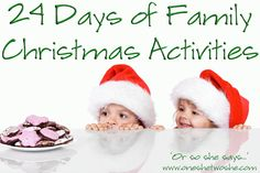 Christmas Activity Advent ~ Celebrate All Month Long! (she: Melissa)