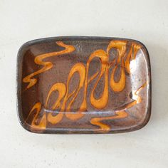 Rakuten: 1 (small firing, Naoyuki Inoue, folk handicraft, slipware) out of the small firing foot kiln slip corner plate- Shopping Japanese products from Japan