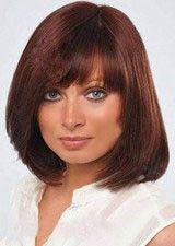 Nice Straight Human Hair with Bang Lace Front Wig