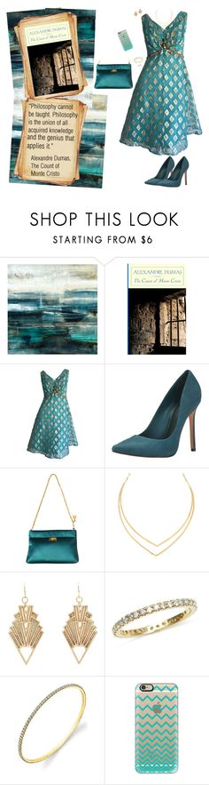 """""""~ Alexandre Dumas,  ~ The Count of  Monte Cristo ~ {Fashionable Reads}"""" by stylistic-1 ❤ liked on Polyvore featuring Leftbank Art, Nook, Schutz, ESCADA, Lana, Charlotte Russe and Casetify"""