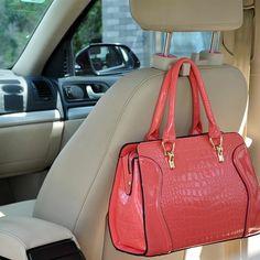 2pcs Pink Car Truck Seat Back Hanger Organizer Hook Headrest Holder Universal | ...