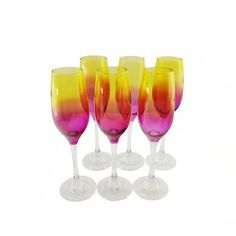 Summer Flare 6-piece Champagne Flute Set