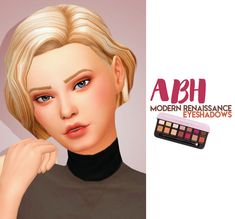 "crazycupcakefr: "" Hello everyone! This is my favorite makeup palette in real life so I made it for my sims! Sims 4 Cc Skin, Sims 4 Mm Cc, Sims Four, Maxis, Sims 4 Cas, My Sims, Abh Modern Renaissance, Renaissance Hair, Sims 4 Tattoos"