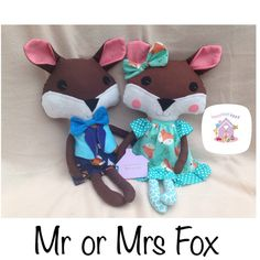 Who doesn't love a little woodland Fox You can chose either a boy or girl to be made in designer fabrics These can be in any colours or themes plus personalising too Dolls And Daydreams, Handmade Soft Toys, Small Baby, Little Miss, Baby Toys, Fabric Design, Boy Or Girl, Dinosaur Stuffed Animal, Fox