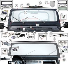Windshield Parts & Components for Wrangler YJ