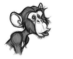 The art of david boudreau cartoon in 2019 рисунок животных, Animal Sketches, Animal Drawings, Drawing Sketches, Sketch Art, Monkey Drawing, Monkey Art, Cartoon Drawings, Cartoon Art, Art Drawings