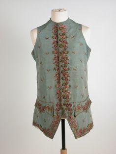 Man's waistcoat  National Trust Inventory Number 1367215 Date1727 - 1760 MaterialsSilk CollectionKillerton, Devon (Accredited Museum)