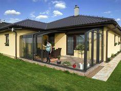 Téli kert nyítható terasz Patio Pergola, Gazebo, Veranda Retractable, Outdoor Living, Outdoor Decor, Construction, Sunroom, Home Projects, House Plans