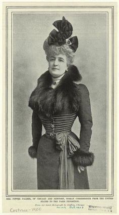 Mrs. Potter Palmer, of Chicago and Newport, woman commissioner from the United States to the Paris exposition. (1900)  Mrs. Soames