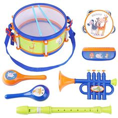 Music Learner Kids Children 3 Tone Silver Chime Percussion Beat Musical Toy