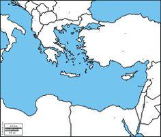 Eastern Mediterranean Sea: Free maps, free blank maps, free outline maps, free base maps