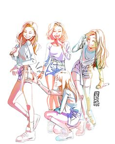 I love this MAMAMOO Fanart!! ♥️