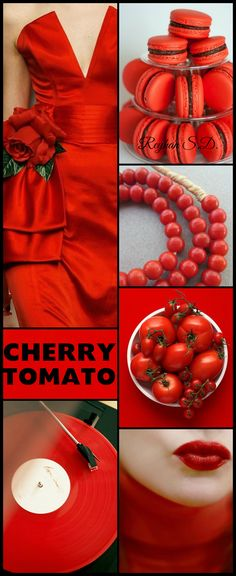 '' Cherry Tomato - 2018 Pantone Color'' by Reyhan S.D.