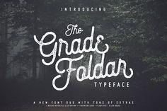 The Gradefoldar Typeface + Extras by ArdhLemurian Labs on @creativemarket