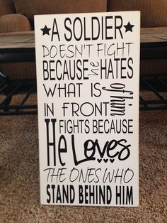 A soldier doesn't fight because.. Military marine by SAWTHESIGN, $30.00