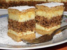 Francia diós krémes Hungarian Recipes, Hungarian Food, Nutella, Tiramisu, Panna Cotta, Cake Recipes, French Toast, Recipies, Food And Drink