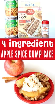 Apple Dump Cake Recipes with Pie Fillings! Easy Crock Pot Apple Spice desserts are the perfect ending to any day! With the perfect blend of sweet apples and cozy spices, this is the ONE dessert you'll want to make over and over this Fall!  Go grab the recipe and give it a try this week!