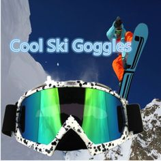 COOL PU Resistant Motocross Dirt Bike Wrap Ski Goggles Protective Safety Glasses