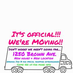 We are happy to announce that Finders Keepers of Erie is moving to 1250 Brown Ave! Anyone who has been in our shop in the last year knows that we were running out of space! I often joke with people that we needed to start hanging things from the ceiling! Well, now we have more …